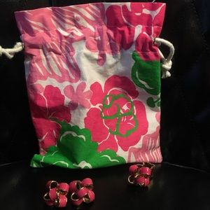 Lilly Pulitzer Pink Bow Earrings